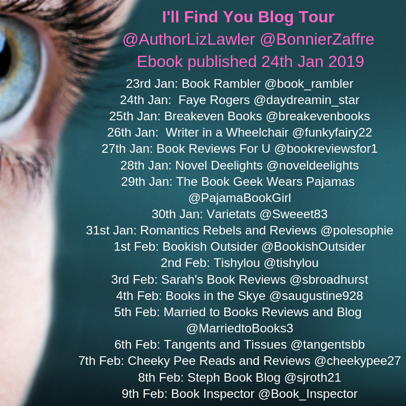 List of dates, blog names and twitter handles for the blog tour.